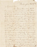"Autographs:Statesmen, Thomas J. Rusk Autograph Letter Thrice Signed ""Tho J Rusk""as U.S. Senator from Texas, (one signature as a free frank) c..."
