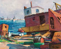 Texas, ROLLA SIMS TAYLOR (American, 1872-1970). Rockport. Oil oncanvas. 16 x 20 inches (40.6 x 50.8 cm). Signed lower right: ...
