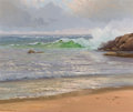 Texas, PORFIRIO SALINAS (American, 1910-1973). Seascape. Oil oncanvas. 20 x 24-1/2 inches (50.8 x 62.2 cm). Signed lower left:...