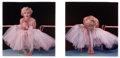 Photographs, MILTON GREENE (American, 1922-1985). Marilyn Monroe in tutu, 1950s. Color coupler diptych, 1978. Paper: 16 x 24 inches (...