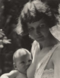 Photography :Other , ANNE W. BRIGMAN (American, 1869-1950). Mother and Child,1925. Gelatin silver. 9-5/8 x 7-3/4 inches (24.4 x 19.7 cm). Re...