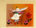 Animation Art:Production Drawing, Mary Blair South America Animation Concept Painting Original Art(Disney, undated)....