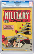 Golden Age (1938-1955):War, Military Comics #34 (Quality, 1944) CGC FN/VF 7.0 Off-white to white pages....