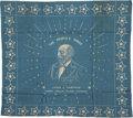 Political:Textile Display (pre-1896), James A. Garfield: Scarce Single Portrait 1880 Campaign Bandana....