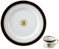 """Political:Presidential Relics, Ronald Reagan: 12"""" Presidential China Service Plate and Matching Cup.... (Total: 2 Items)"""