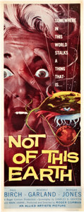 "Movie Posters:Science Fiction, Not of this Earth (Allied Artists, 1957). Insert (14"" X 36"").. ..."