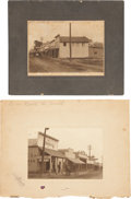 """Photography:Official Photos, Two Photographs of Eagle Pass, Texas, 1905. (1) 7"""" x 4.75"""" (mattedto 12"""" x 9""""), with """"No. 1 - North to South"""" written i...(Total: 2 Items)"""
