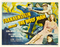 "Movie Posters:Horror, Frankenstein Meets the Wolf Man (Universal, 1943). Half Sheet (22""X 28"").. ..."