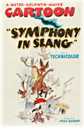 "Movie Posters:Animated, Symphony in Slang (MGM, 1951). One Sheet (27"" X 41"").. ..."