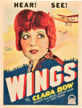 "Movie Posters:War, Wings (Paramount, 1927). Window Card (14"" X 18.25"").. ..."