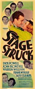 "Movie Posters:Musical, Stage Struck (Warner Brothers, 1936). Insert (14"" X 36"").. ..."