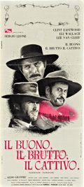 "Movie Posters:Western, The Good, The Bad and the Ugly (PEA, 1966). Italian Locandina (13"" X 27"").. ..."