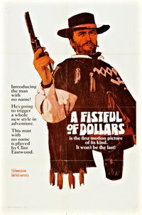 """A Fistful of Dollars (United Artists, 1967). One Sheet (27"""" X 41"""") Style A Teaser"""