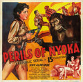 "Movie Posters:Serial, Perils of Nyoka (Republic, 1942). Six Sheet (81"" X 81"").. ..."