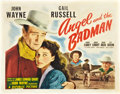 "Movie Posters:Western, Angel and the Badman (Republic, 1947). Half Sheet (22"" X 28"") StyleA.. ..."