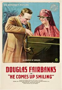 """He Comes Up Smiling (Artcraft, 1918). One Sheet (27"""" X 41"""")"""