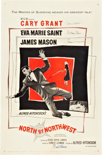 "North by Northwest (MGM, 1959). Autographed One Sheet (27"" X 41"")"