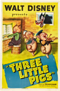 "Movie Posters:Animated, The Three Little Pigs (RKO, R-1947). One Sheet (27"" X 41"").. ..."