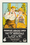 "Movie Posters:Comedy, Love (Paramount, 1919). One Sheet (28"" X 42"").. ..."