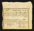 Colonial Notes:Pennsylvania, Pennsylvania 1780 Interest Bearing Certificate. PA-2. Very Fine -Extremely Fine....