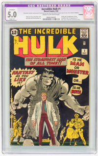 The Incredible Hulk #1 (Marvel, 1962) CGC Apparent VG/FN 5.0 Slight (A) Cream to off-white pages