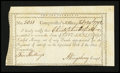 Colonial Notes:Connecticut, Connecticut Interest Payment Certificate. February 29, 1792. VeryFine....