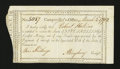Colonial Notes:Connecticut, Connecticut Interest Payment Certificate. March 13, 1792. AboutNew....
