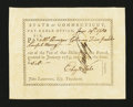 Colonial Notes:Connecticut, Connecticut Pay Table Office. June 19, 1784. Extremely Fine....