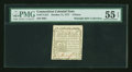 Colonial Notes:Connecticut, Connecticut October 11, 1777 3d Slash Cancel Printed on White PaperPMG About Uncirculated 55 EPQ....