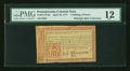 Colonial Notes:Pennsylvania, Pennsylvania April 10, 1777 1s/6d Red and Black PMG Fine 12....