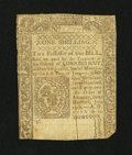 Colonial Notes:Connecticut, Connecticut June 19, 1776 1s Very Fine, backed....