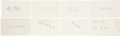 Autographs:Index Cards, Baseball Stars Signed Index Cards Lot of 8. ...