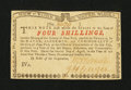 Colonial Notes:New York, New York August 2, 1775 (Water Works) 4s Very Choice New....