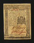 Colonial Notes:Pennsylvania, Pennsylvania April 25, 1776 2s Very Fine-Extremely Fine....