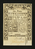 Colonial Notes:Rhode Island, Rhode Island May 1786 6d Very Choice New....