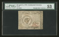 Colonial Notes:Continental Congress Issues, Continental Currency April 11, 1778 $8 PMG About Uncirculated53....