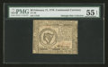 Colonial Notes:Continental Congress Issues, Continental Currency February 17, 1776 $8 PMG About Uncirculated 55EPQ....