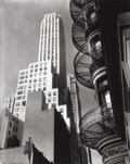 Photographs, BERENICE ABBOTT (American, 1898-1991). Murray Hill Hotel Spiral, from Park Avenue and 40th St., 1935. Gelatin silver, pr...