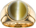 Estate Jewelry:Rings, Gentleman's Cat's-Eye Chrysoberyl, Gold Ring. ...
