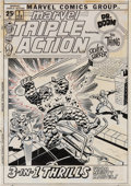 Original Comic Art:Covers, John Buscema and Frank Giacoia Marvel Triple Action #1Fantastic Four vs. Silver Surfer Cover Original Art (Marvel...
