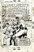 Original Comic Art:Covers, Dick Ayers and Syd Shores Sgt. Fury #90 Cover Original Art(Marvel, 1971)....