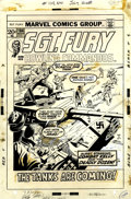 Original Comic Art:Covers, Dick Ayers and Steve Mitchell Sgt. Fury #104 Cover Original Art (Marvel, 1972)....