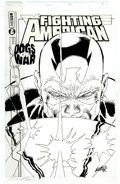 Original Comic Art:Covers, Rob Liefeld Fighting American: Dogs of War #3 Cover OriginalArt (Awesome, 1998)....