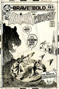 Original Comic Art:Covers, Nick Cardy The Brave and the Bold #97 Batman and WildcatCover Original Art (DC, 1971)....