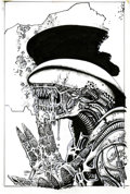 Original Comic Art:Covers, Richard Corben Aliens: Alchemy #1 Cover Original Art (DarkHorse, 1997)....
