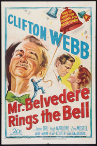 "Mr. Belvedere Rings the Bell (20th Century Fox, 1951). One Sheet (27"" X 41""). Comedy"