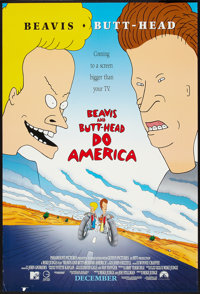 "Beavis and Butthead Do America Lot (Paramount, 1996). One Sheets (3) (27"" X 40"") DS Advance and Regulars. Come..."