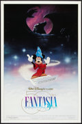 "Movie Posters:Animated, Fantasia Lot (Buena Vista, R-1990). 50th Anniversary and RegularOne Sheets (2) (27"" X 41"") DS. Animated.. ... (Total: 2 Items)"