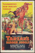 "Movie Posters:Adventure, Tarzan's Hidden Jungle (RKO, 1955). Autographed One Sheet (27"" X41""). Adventure.. ..."