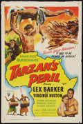 "Movie Posters:Adventure, Tarzan's Peril (RKO, 1951). One Sheet (27"" X 41""). Adventure.. ..."